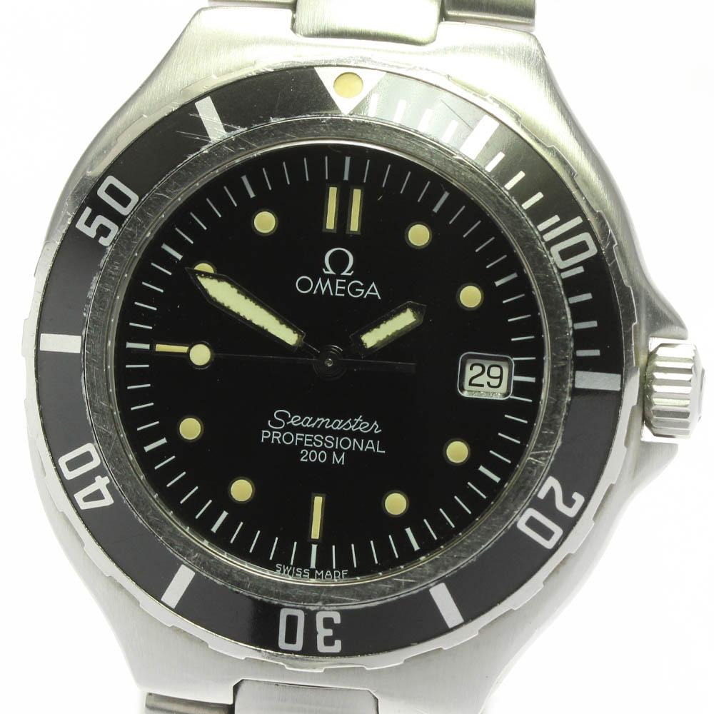 ブランド腕時計専門店CLOSER 15時までの決済で即日発送可能です 在庫数大幅増加中 セール 早い者勝ち☆是非ご利用下さいませ OMEGA オメガ デイト 1着でも送料無料 メンズ シーマスター200 中古 ref.2850.50 クォーツ
