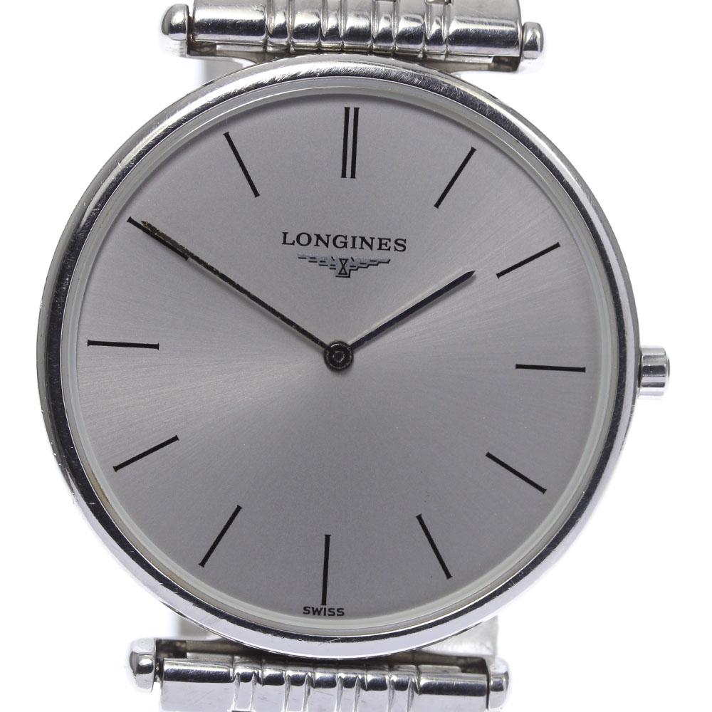 ブランド腕時計専門店CLOSER 15時までの決済で即日発送可能です 在庫数大幅増加中 早い者勝ち☆是非ご利用下さいませ 高額売筋 保証書付き LONGINES ロンジン 中古 業界No.1 L4.635.4 メンズ グランドクラシック クォーツ