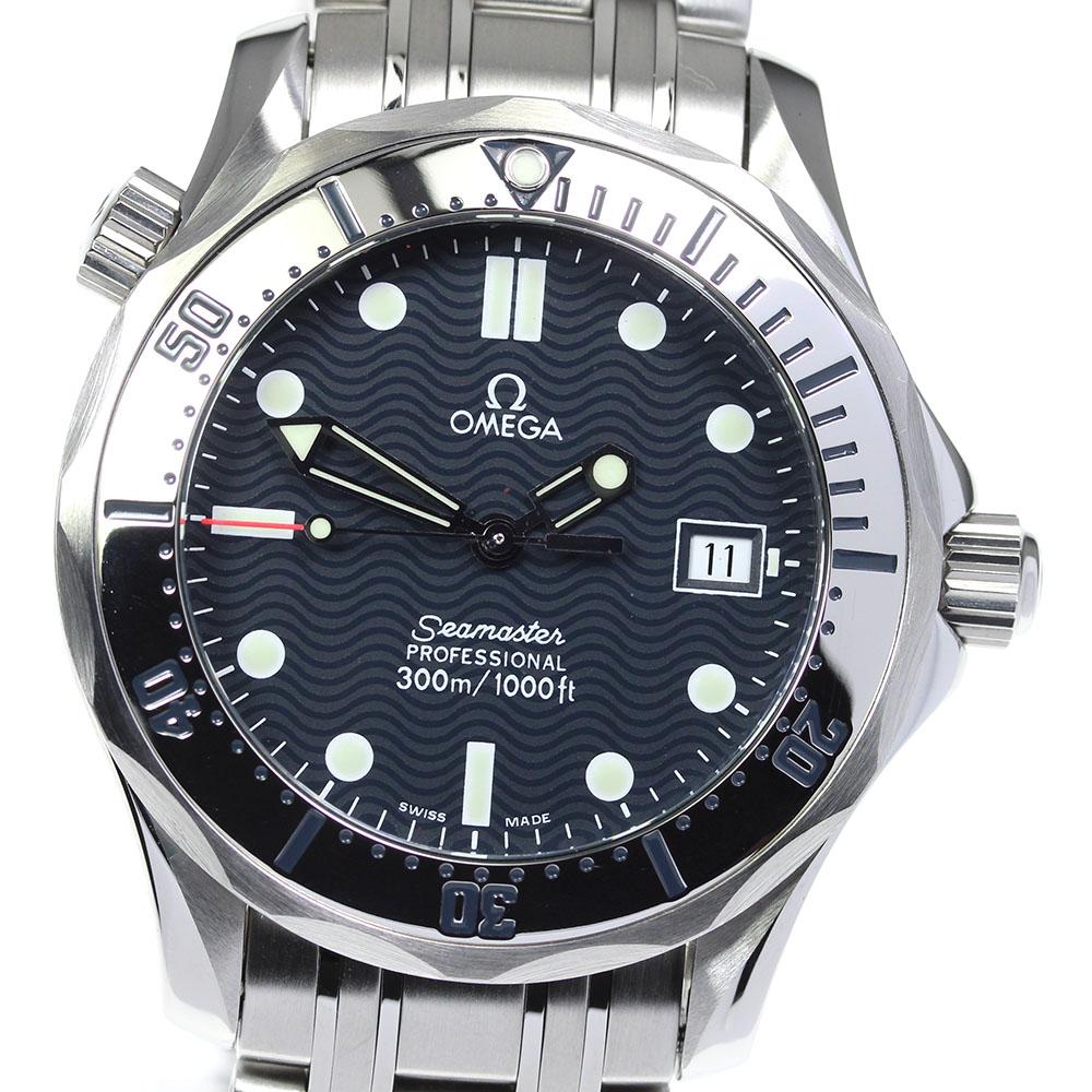 ブランド腕時計専門店CLOSER 15時までの決済で即日発送可能です 迅速な対応で商品をお届け致します 在庫数大幅増加中 返品送料無料 早い者勝ち☆是非ご利用下さいませ ☆美品 保証書付き OMEGA クォーツ 2562.80 中古 デイト シーマスター300 オメガ ボーイズ