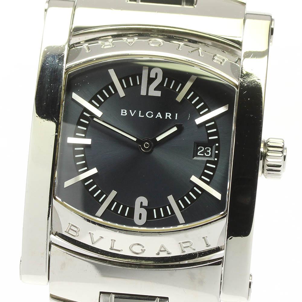 ブランド腕時計専門店CLOSER 15時までの決済で即日発送可能です 在庫数大幅増加中 早い者勝ち☆是非ご利用下さいませ BVLGARI ブルガリ アショーマ ご注文で当日配送 在庫処分 AA39S デイト クォーツ 中古 レディース