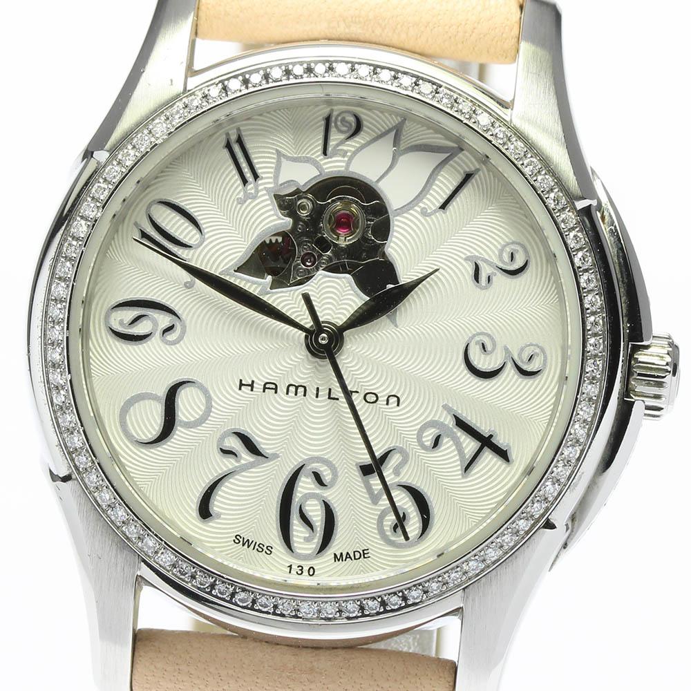 ブランド腕時計専門店CLOSER 15時までの決済で即日発送可能です 在庫数大幅増加中 早い者勝ち☆是非ご利用下さいませ ☆良品 箱 保証書付き 贈答 HAMILTON デイト 中古 自動巻き ハミルトン ジャズマスター レディ レディース 日本製 H323550