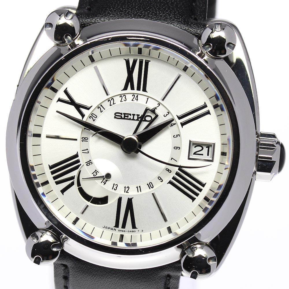 ブランド腕時計専門店CLOSER 15時までの決済で即日発送可能です 在庫数大幅増加中 登場大人気アイテム 早い者勝ち☆是非ご利用下さいませ ☆良品 SEIKO メンズ 5R66-0AC1 セイコー スプリングドライブ 中古 ガランテ マーケット