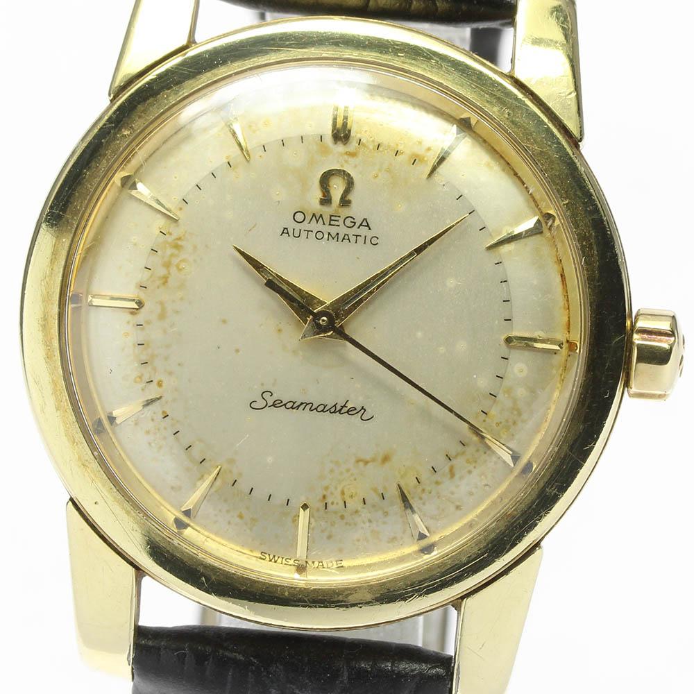 本物 ブランド腕時計専門店CLOSER 15時までの決済で即日発送可能です 正規品送料無料 在庫数大幅増加中 早い者勝ち☆是非ご利用下さいませ OMEGA オメガ シーマスター cal.354 アンティーク 自動巻き ハーフローター 中古 メンズ