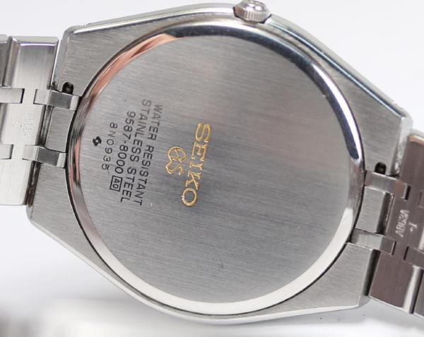 세이코 그랜드 세이코9587-8000실버 문자판 QZ맨즈