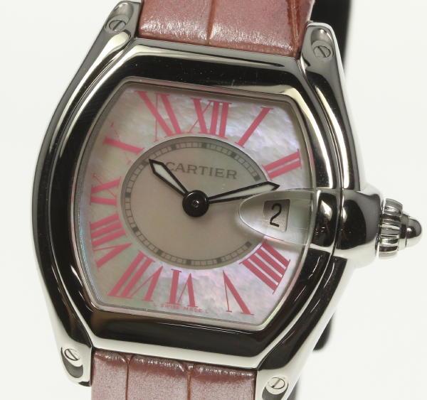 良品!箱・保付【Cartier】カルティエ ロードスターSM シェル W6206006 クォーツ レディース腕時計◆【170810】【18052】【中古】
