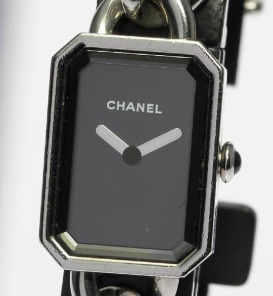保存ケース CHANEL シャネル プルミエール ステンレスブレス H3248 レディース クォーツ【170920】【18044】【18104】【19013】【中古】【event】