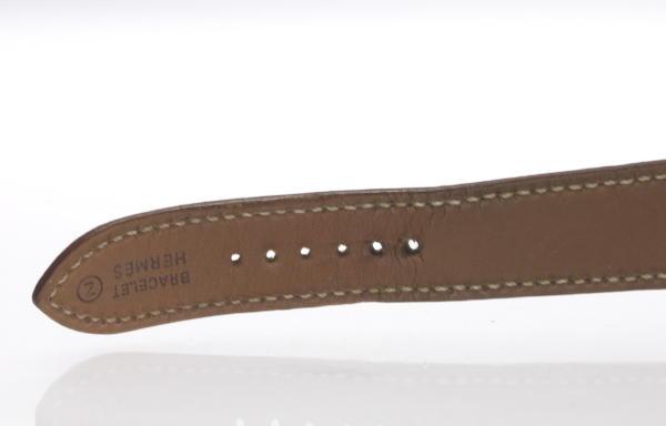 愛馬仕H表HH1.501純正皮革皮帶石英人