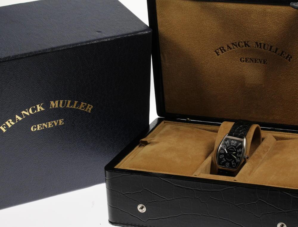 ☆ FRANCK MULLER Frank Muller K18WG 1752QZ トノーカーベックスサンセットクォーツレディース genuine leather belt with the box☆