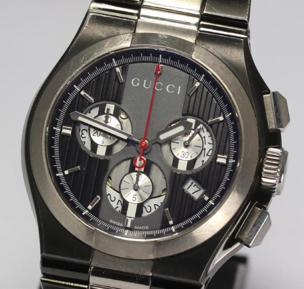 124.3 Chronograph date titanium quartz men☆