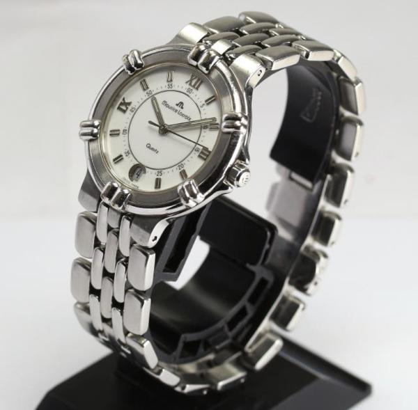 Morris Lacroix calypso 95342 date SS quartz men☆
