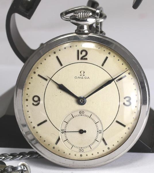 오메가안티크스모세코 Cal. 38.5 L.T1 손으로 말기 회중 시계 ★