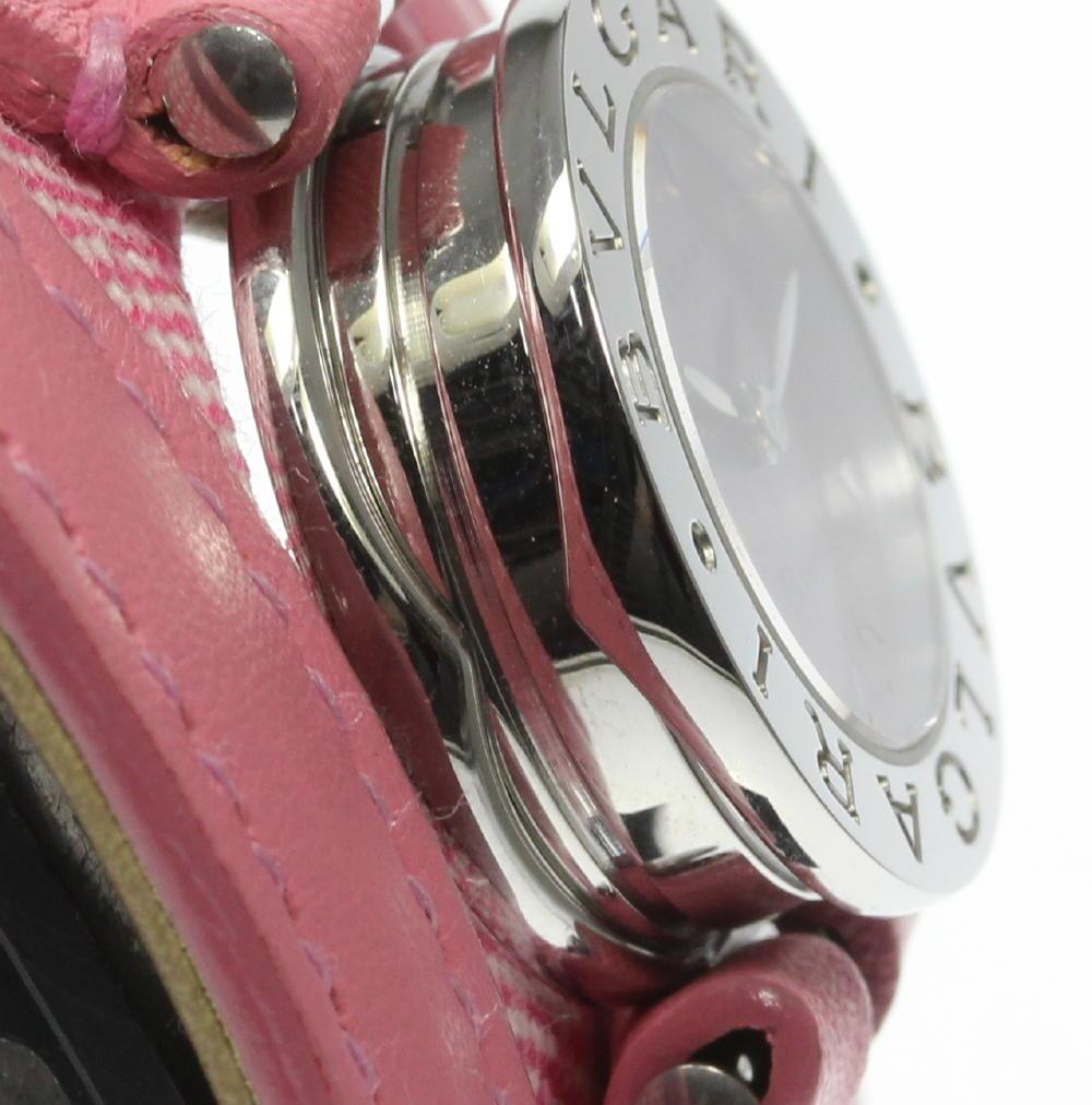 22ccaac239 【BVLGARI】ブルガリ BZ22S B-zero1 ピンクシェル 純正革ベルト クォーツ レディース腕時計のご紹介です!  この機会に是非ご検討ください。