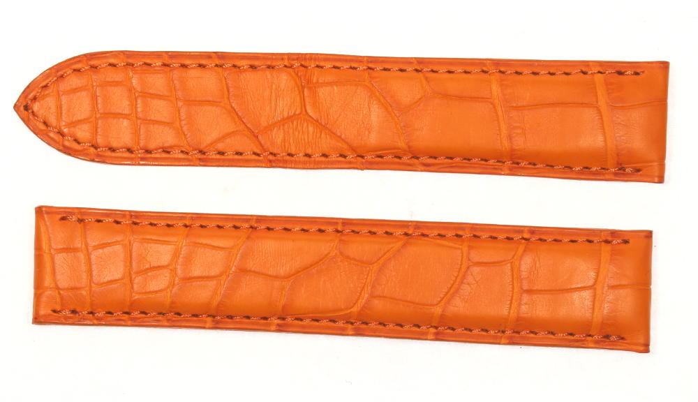 ★極美品★【CARTIER】カルティエ ラグ幅 18mm オレンジ 腕時計革ベルト【180329】【中古】【event】