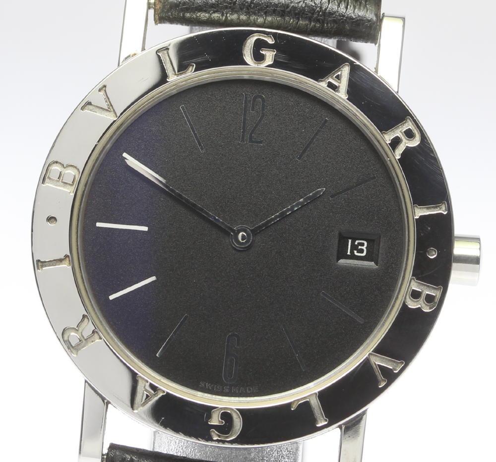 new product 19398 db9a2 Bulgari Bulgari BB33SLD pure leather belt quartz men