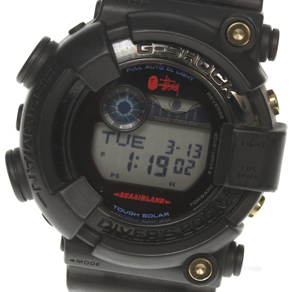 With Casio G Shock Stussy X Bape Frogman Gf 8250bs Tough Solar Men Box