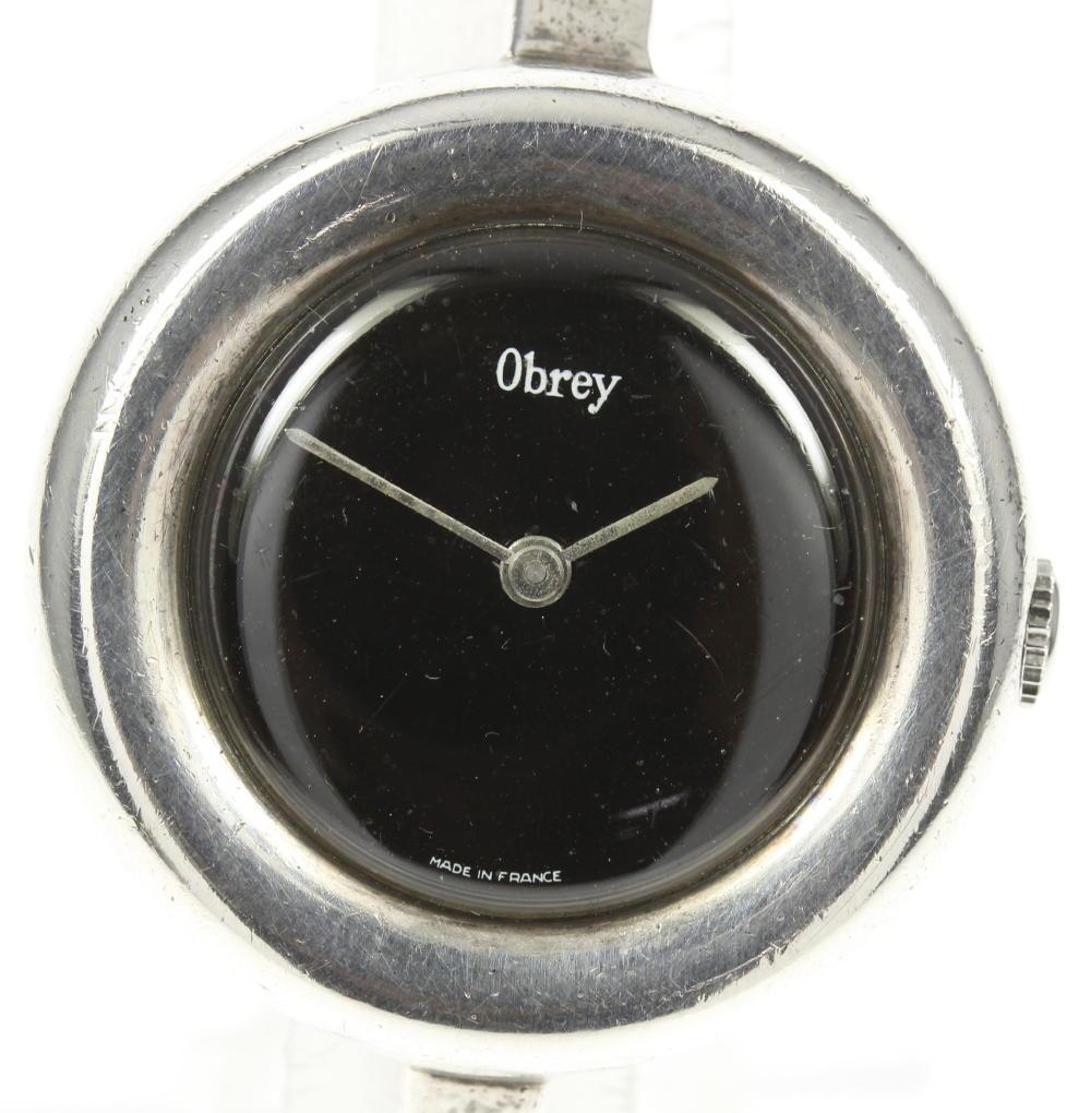 ※訳あり品【Obrey】オブレイ シルバー cal,233-60 ハンドメイド 手巻き ボーイズ【180413】【18063】【訳有】【中古】【event20】
