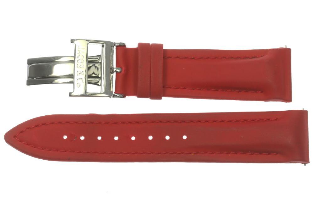 【JACOB&Co】ジェイコブ ラグ幅 22mm レッド バックル付 腕時計用ラバーベルト【180413】【中古】【event】
