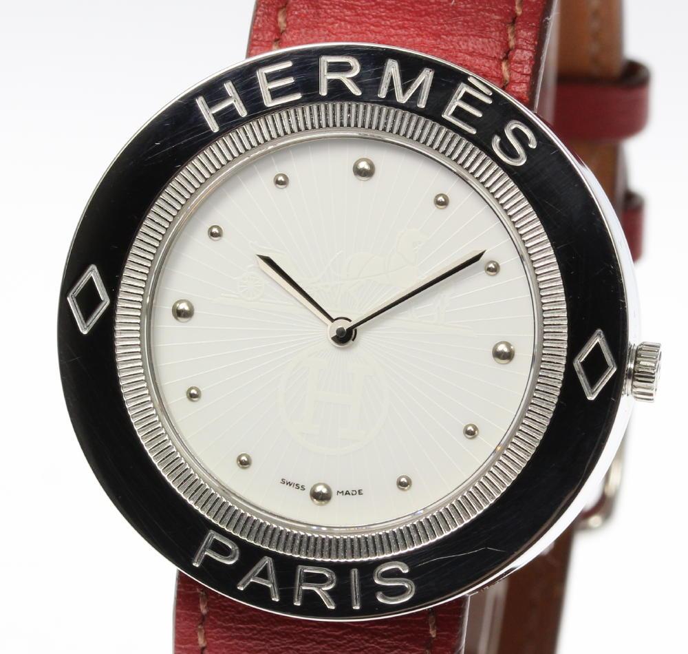 【HERMES】エルメス パスパス PP1.610 純正革ベルト クォーツ メンズ【180518】【19013】【中古】