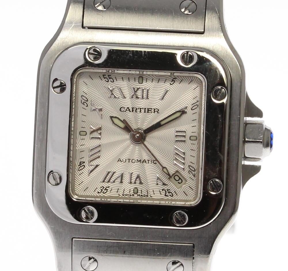 【Cartier】カルティエ サントスガルベ SM W20044D6 自動巻き レディース【180518】【18104】【19013】【中古】