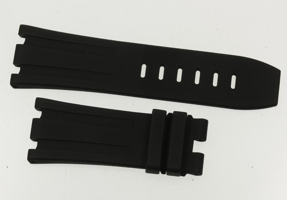 ★極美品★【AP】オーデマ・ピゲ ロイヤルオーク用 ラグ幅29mm ブラック 腕時計用 ラバーベルト【中古】