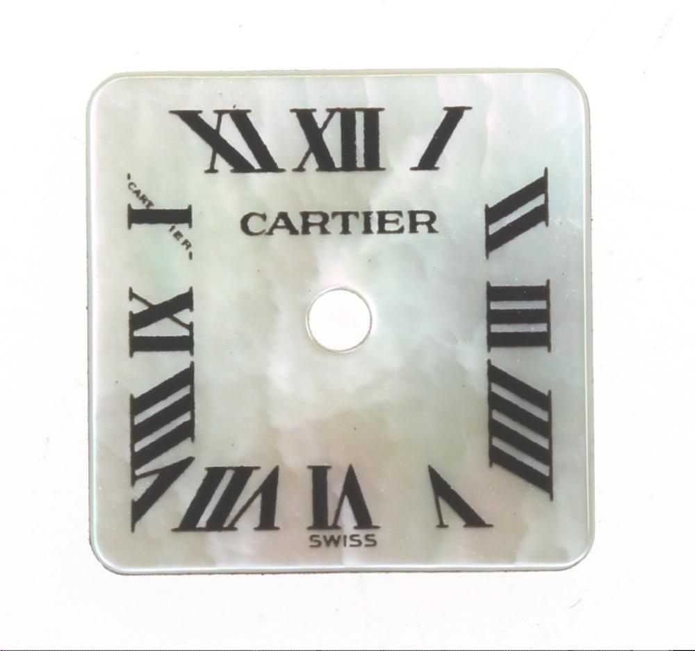 ★美品★【CARTIER】カルティエ スクエア ホワイトシェル 腕時計用 レディース 文字盤【中古】