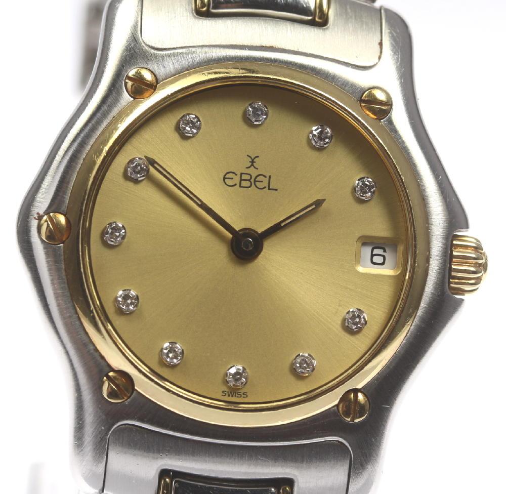 【EBEL】エベル エベル クラシックウェーブ 1911 188901 QZ 11P YGベゼル レディース【中古】