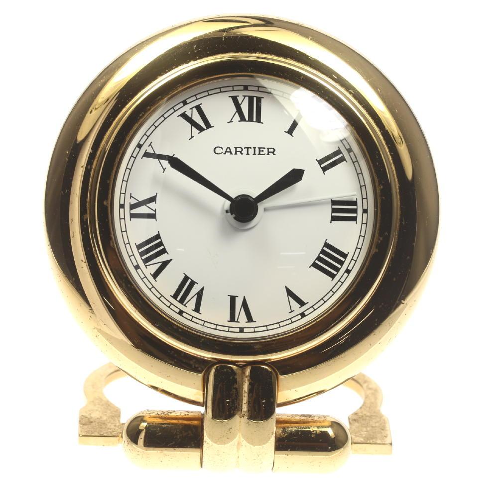★カルティエ アラーム付 マストコリゼ トラベルクロック 置き時計★ 【中古】