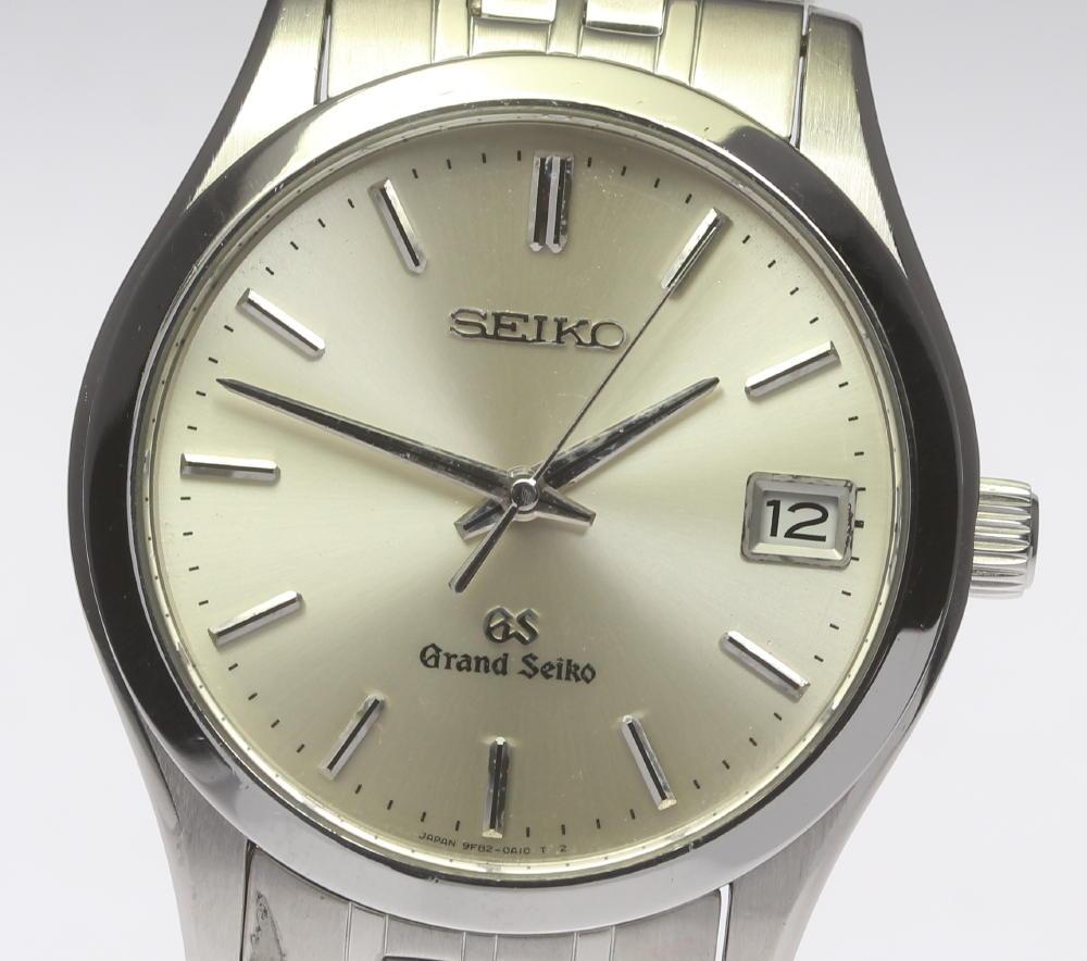 【SEIKO】グランドセイコー 9F82-0A10 デイト表示 クォーツ メンズ【中古】