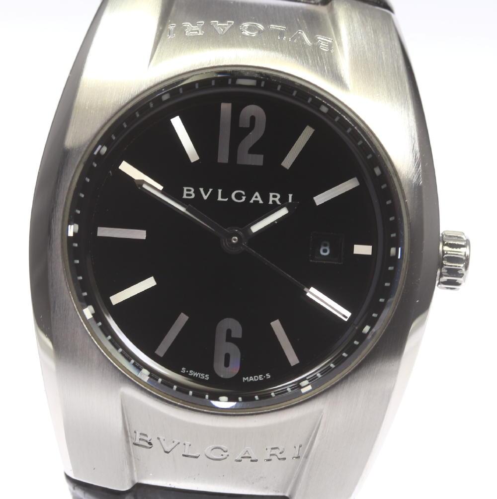 【BVLGARI】ブルガリ エルゴン EG30S QZ 純正革ベルト レディース【中古】