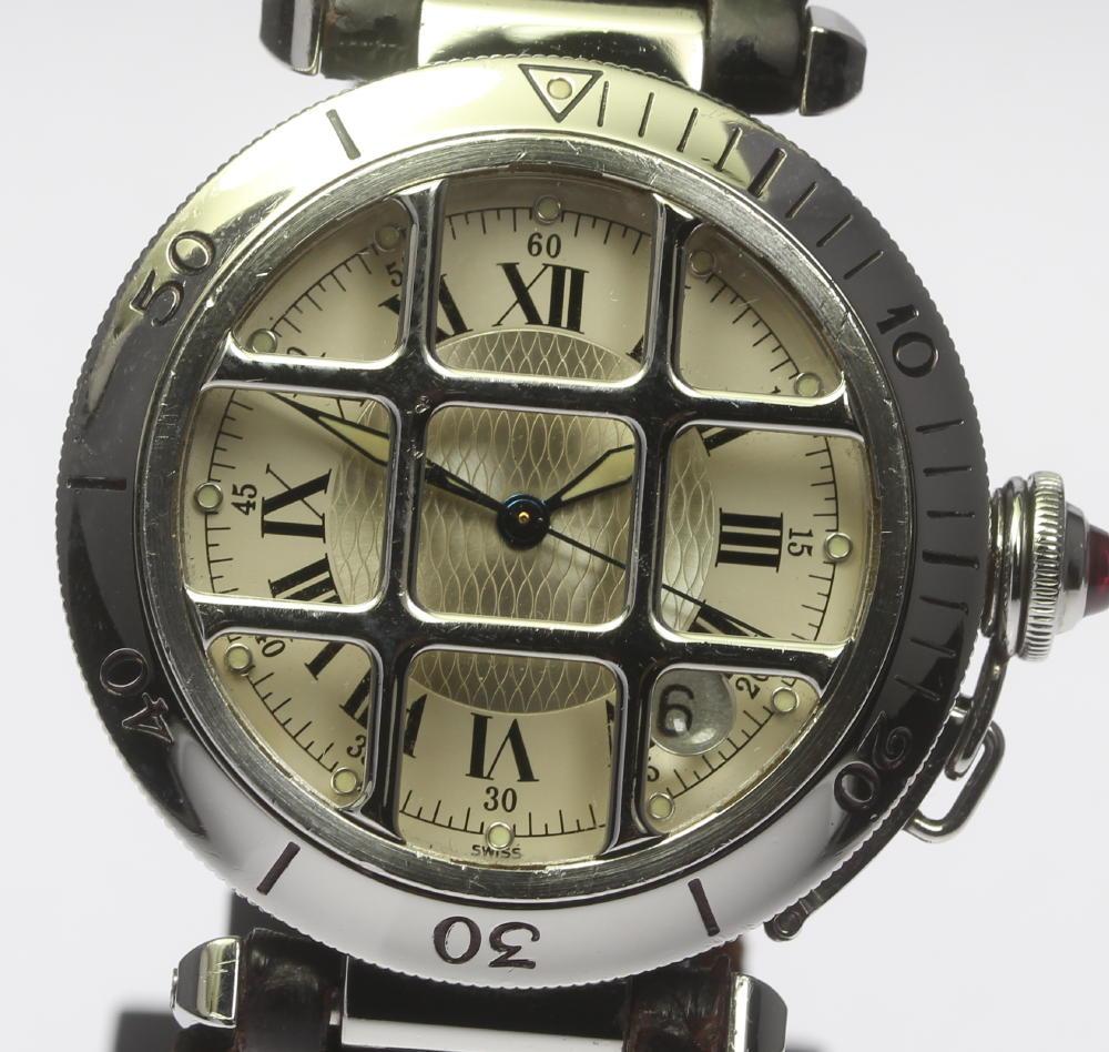 【CARTIER】カルティエ パシャ 150周年記念モデル W3102255 自動巻き 純正革ベルト メンズ【中古】