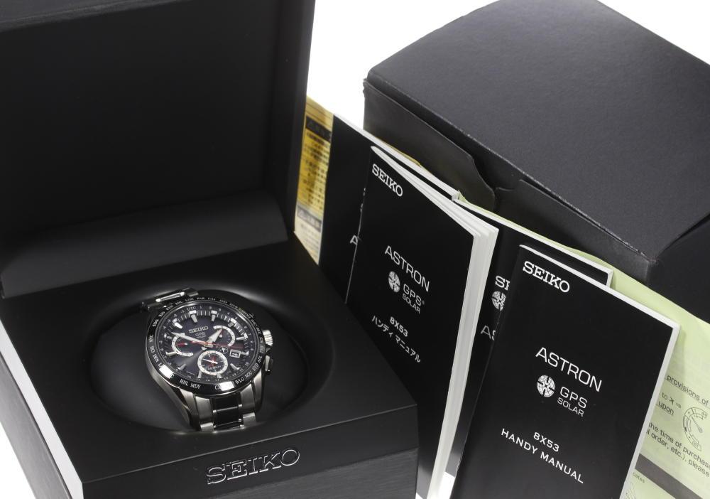 良品 箱付 SEIKOセイコー アストロン 8X53 0AB0 2 ソーラーGPS衛星電波 メンズjcq54AR3L