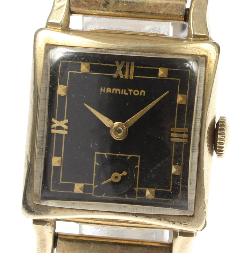 【HAMILTON】ハミルトン アンティーク 手巻き SS(K10GF)/社外エクステンションブレス レディース☆【180725】【中古】