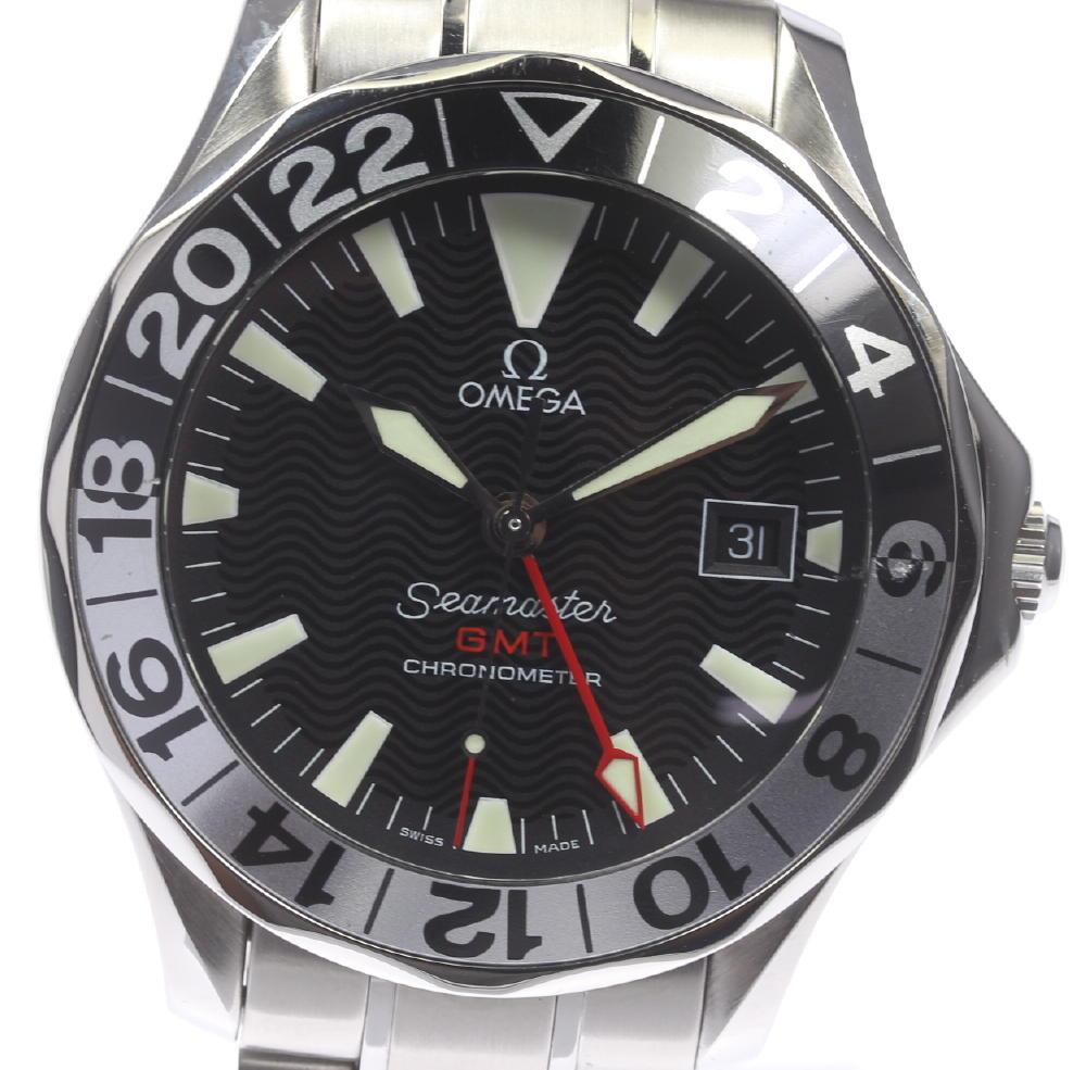 【OMEGA】オメガ シーマスター GMT ジェリーロペスモデル 2536.50 自動巻き メンズ【180725】