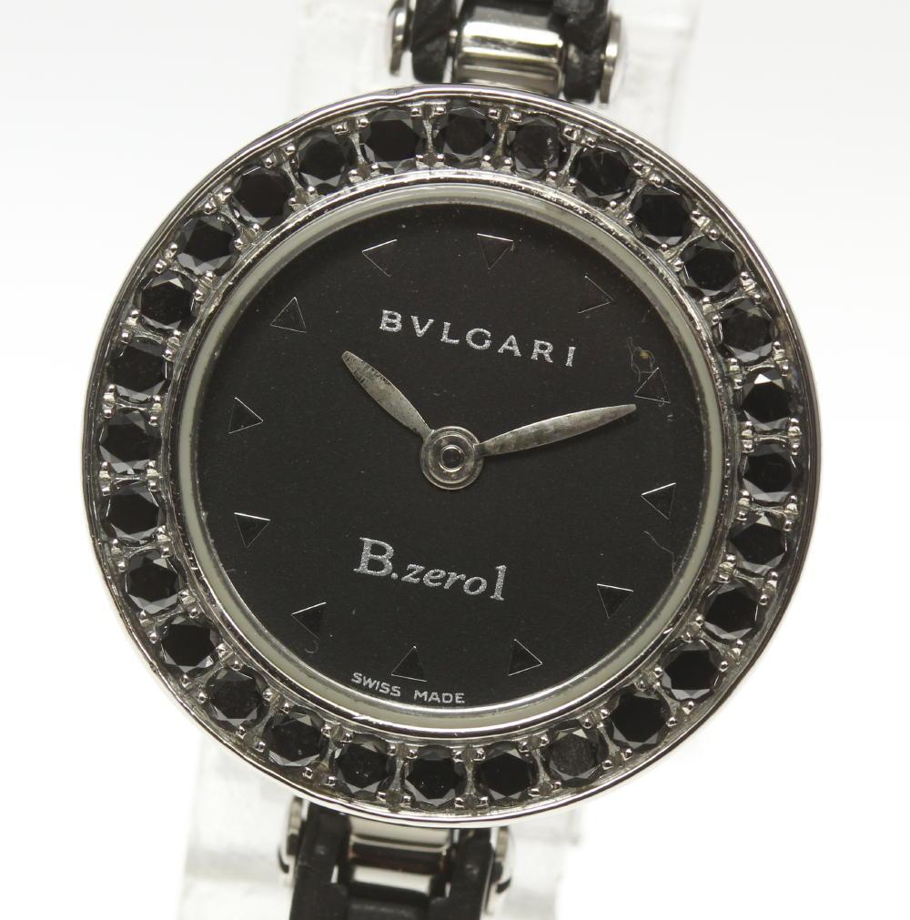 【BVLGARI】ブルガリ B-zero1 BZ22S ブラックダイヤベゼル ラバーブレス クォーツ レディース【180824】【中古】