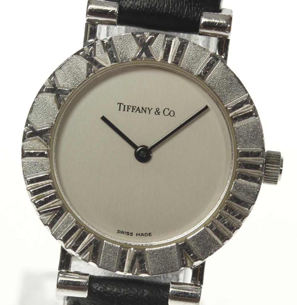 【TIFFANY&Co.】ティファニー アトラス L0640 SV925 QZ 純正革ベルト レディース【180914】