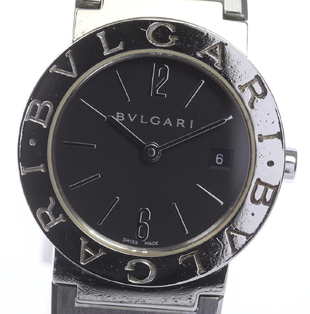 【BVLGARI】 ブルガリブルガリ BB26SS ブラック文字盤 クォーツ レディース【180914】【中古】