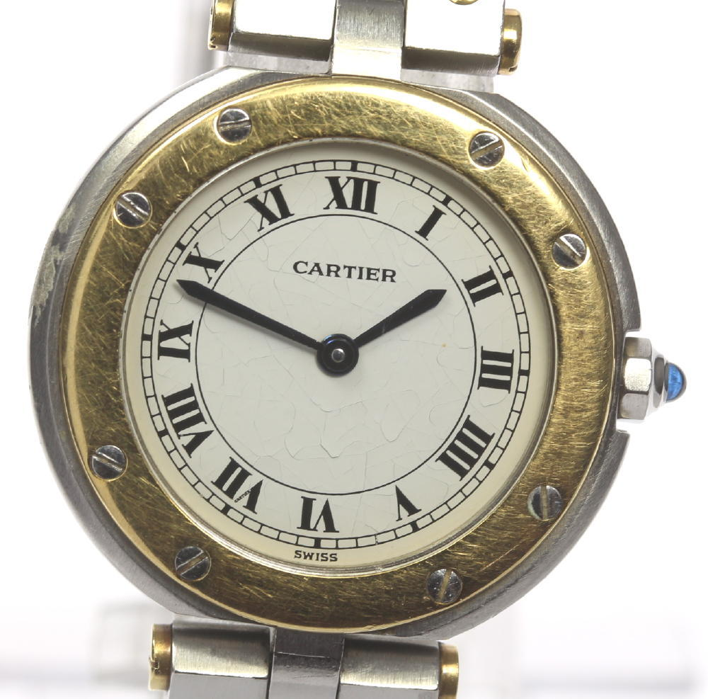 【Cartier】カルティエ サントス ラウンド SM SS/YG コンビ クォーツ レディース【中古】