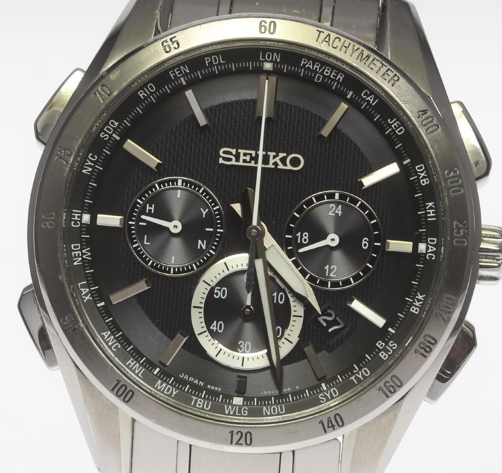 【SEIKO】セイコー ブライツ 8B92-0AB0 ソーラー電波 メンズ【中古】