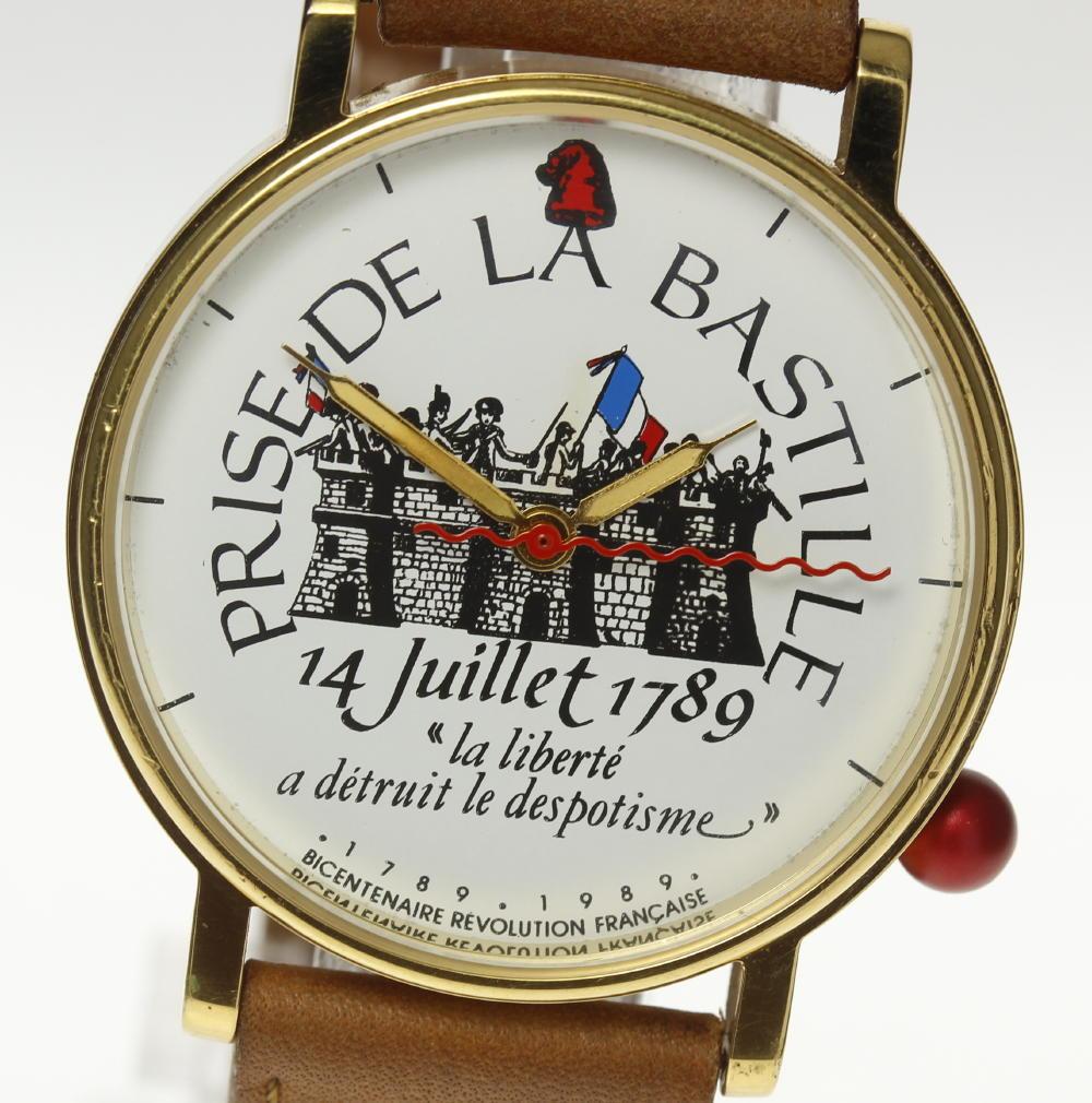 【ALAIN SILBERSTEIN】アランシルベスタイン フランス革命 クォーツ メンズ【中古】【181004】