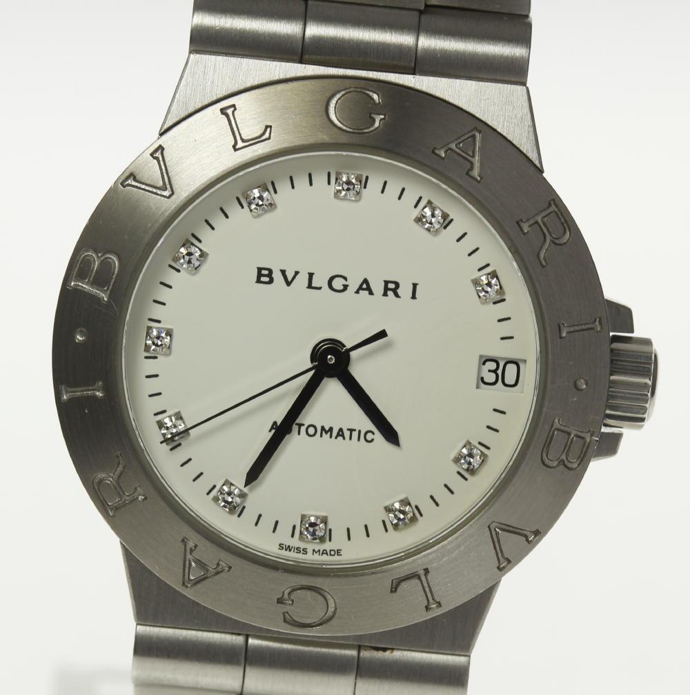 ※訳あり品【BVLGARI】ブルガリ ディアゴノ LCV29S 11P 自動巻き 白文字盤 レディース【181030】【中古】