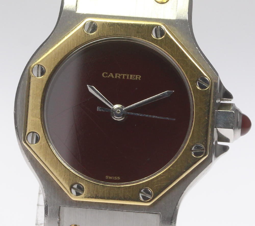 【CARTIER】カルティエ サントスオクタゴンSM 自動巻き レディース【中古】【181030】