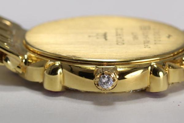 세이코 크레 실업 수당 2 F70-5470 K18YG 다이아몬드×루비