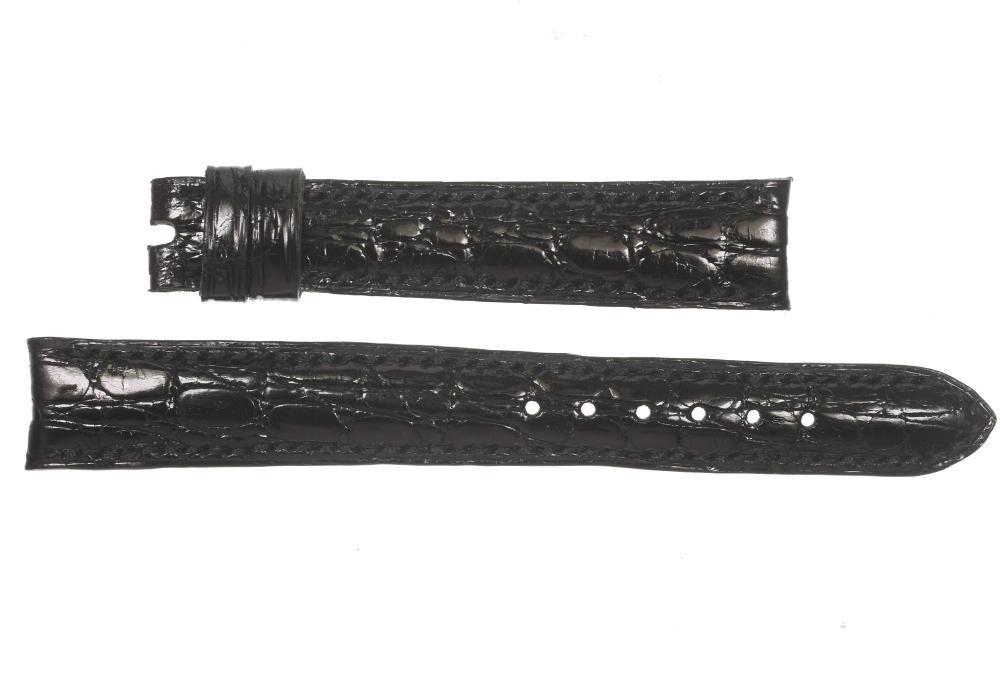 ★良品★【PIAGET】ピアジェ ラグ幅14mm ブラック レディース 腕時計用 革ベルト【中古】