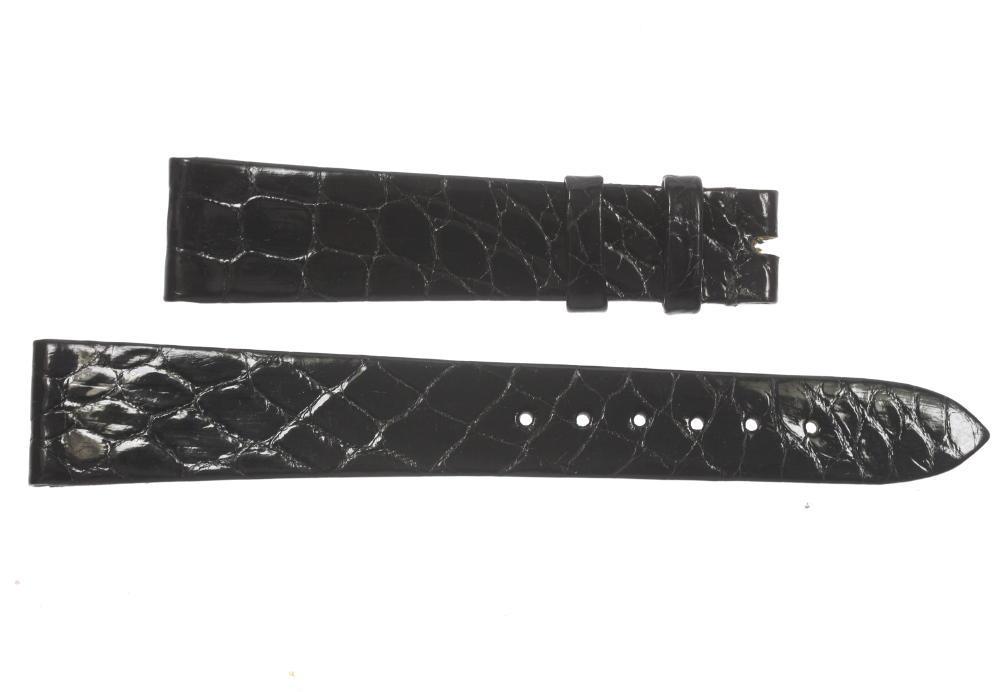 ★美品★【PATEK PHILPPE】パテックフリップ ラグ幅18mm 黒 腕時計用 メンズ 革ベルト【中古】