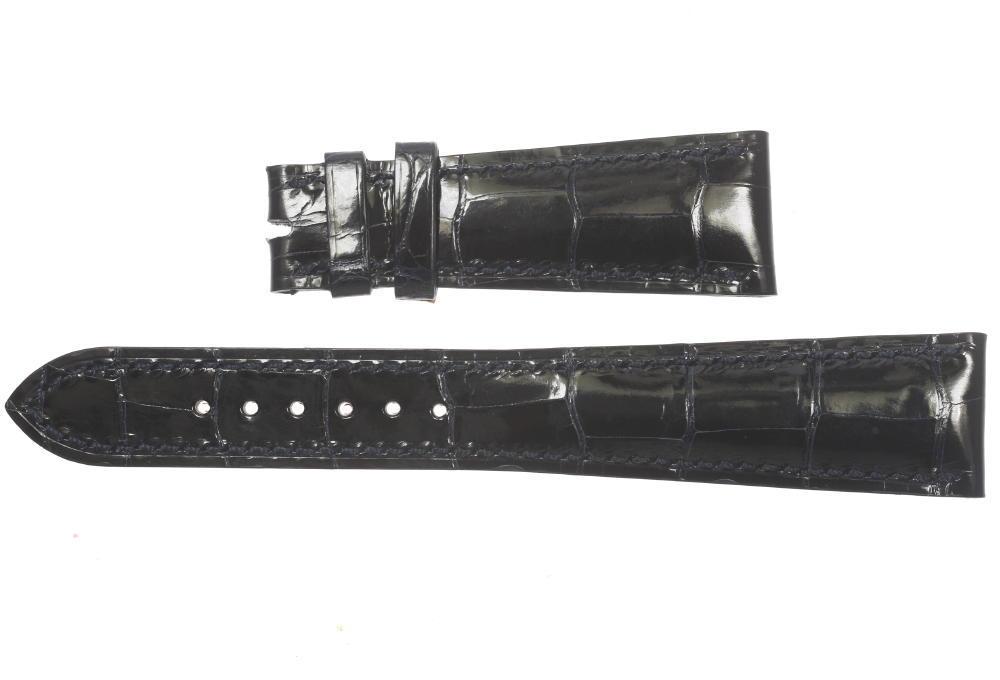 ★未使用品★【PATEK PHILPPE】パテックフリップ ラグ幅21mm ネイビー 腕時計用 メンズ 革ベルト【中古】