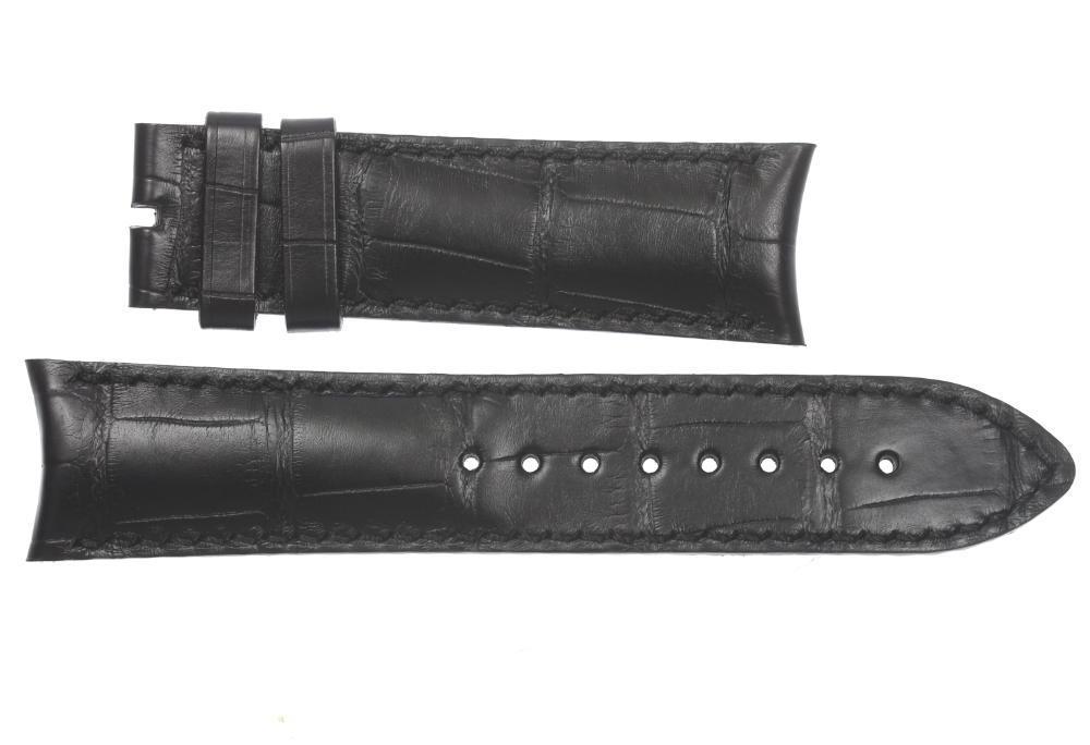 ★未使用品★【VACHERON CONSTANTIN】ヴァシュロンコンスタンタン ラグ幅 22mm 黒 腕時計用 メンズ革ベルト【中古】