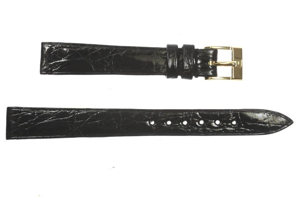★美品★【PIAGET】ピアジェ ラグ幅 12 mm 尾錠K18YG 黒 腕時計用 レディース革ベルト【中古】