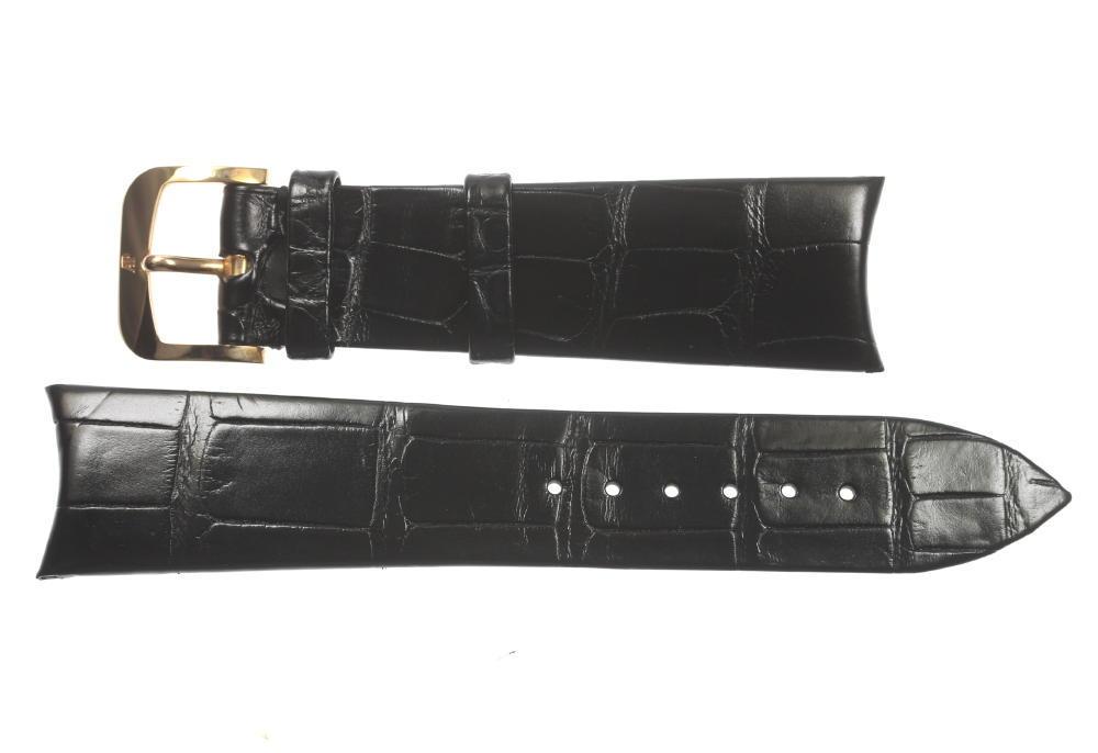 ★美品★【Audemars Piguet】AP オーデマ・ピゲ ラグ幅22mm 尾錠K18PG 黒 腕時計用 革ベルト【中古】