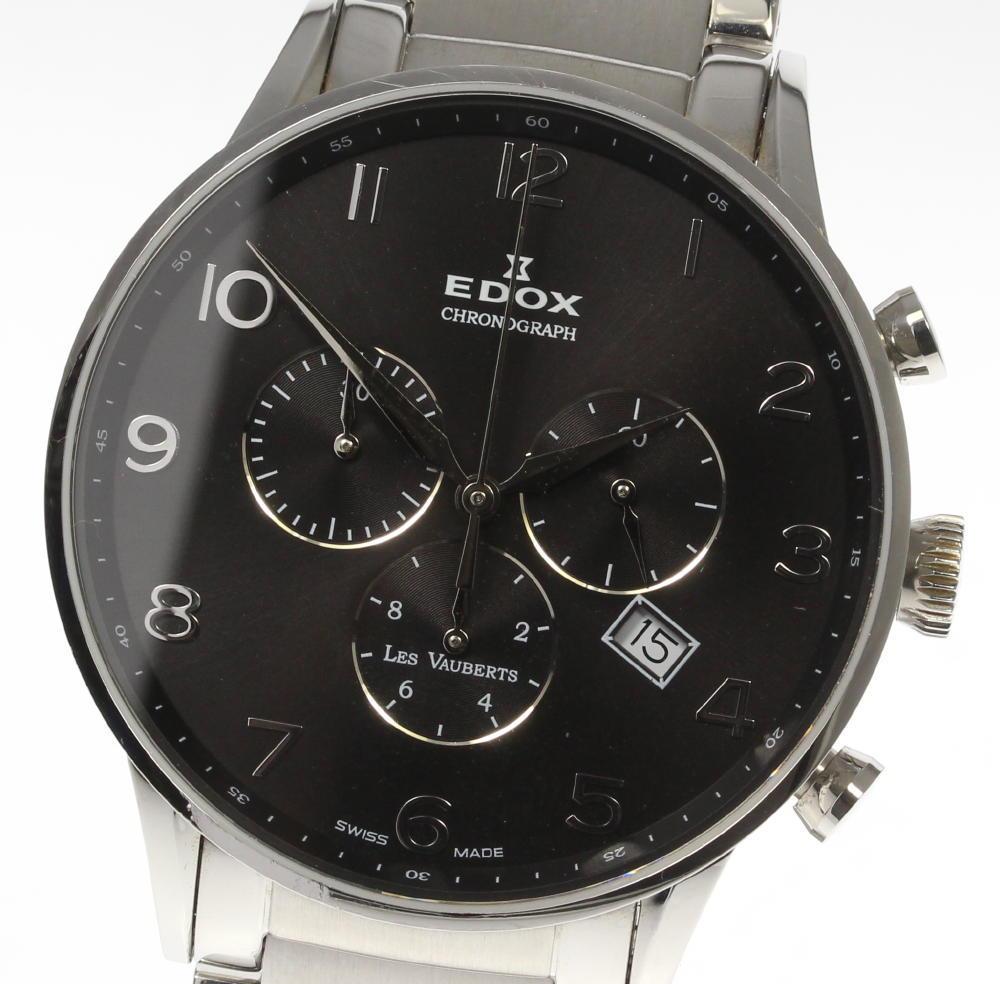 【EDOX】エドックス レ・ボベール クロノグラフ 10409 クォーツ メンズ【中古】