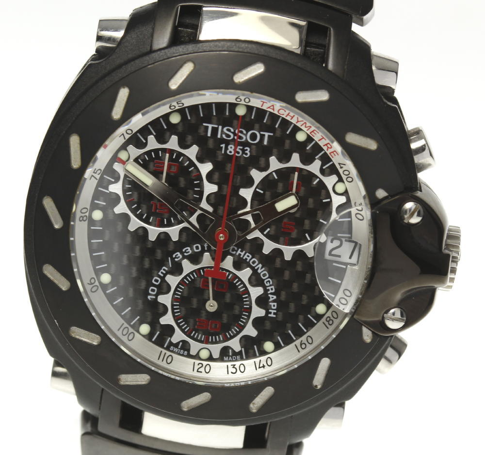 Tissot Tissot T-Race T011417A quartz chronograph date men with the box☆ b29fa9e83bf